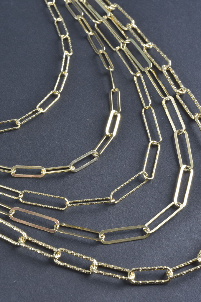 Handmade Layered 5-Strand Sparkle Necklace