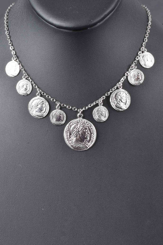 Italian Graduated Dangling Coin Necklace