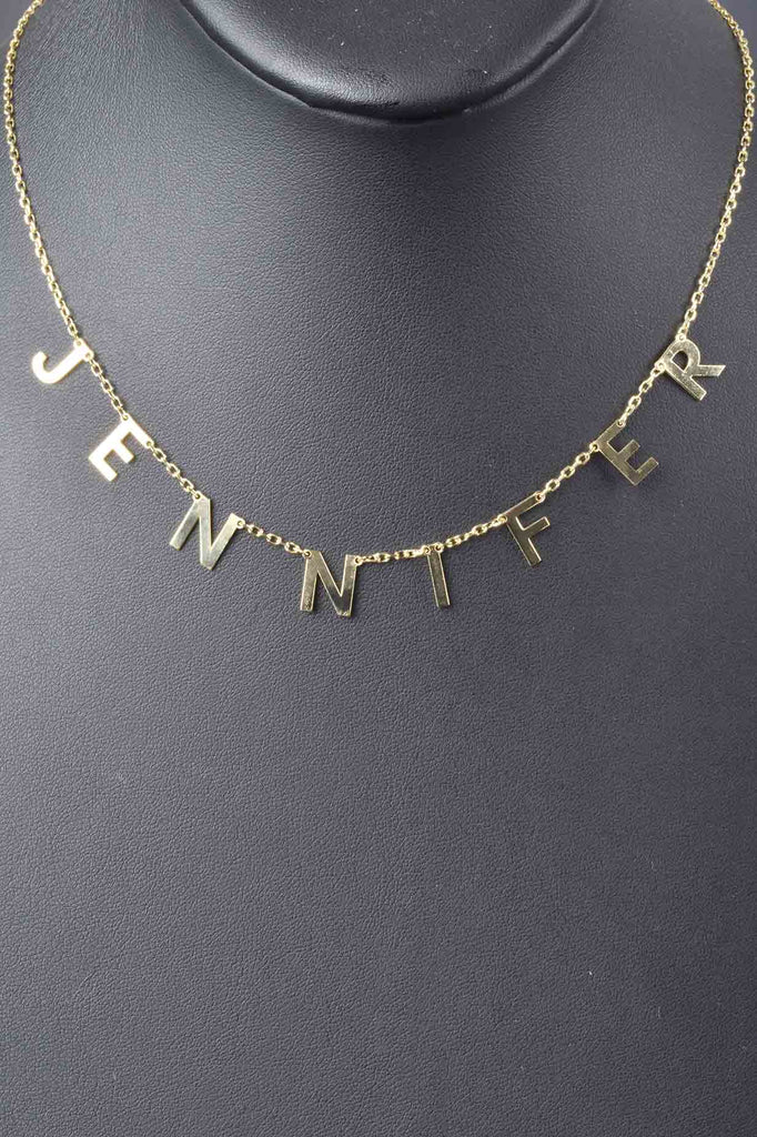 Italian Personalized Name Necklace