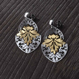 Italian Oak Leaf Earrings