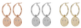 Italian Smiley Face Drop Hoop Earrings