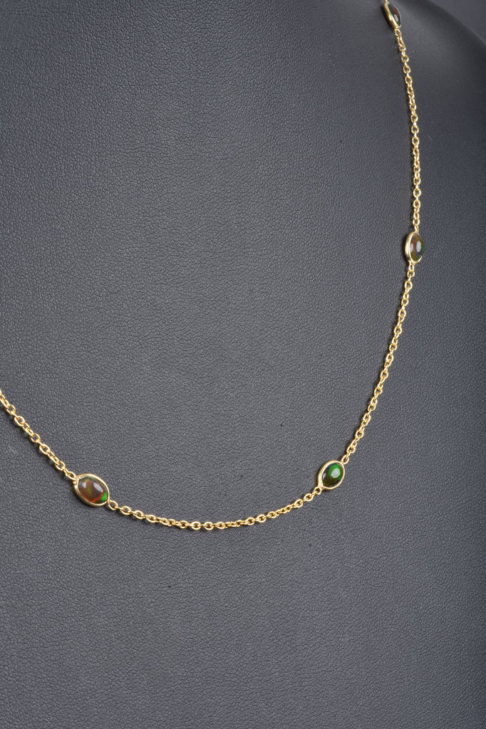 Choice of Opal Gemstone Station Necklace