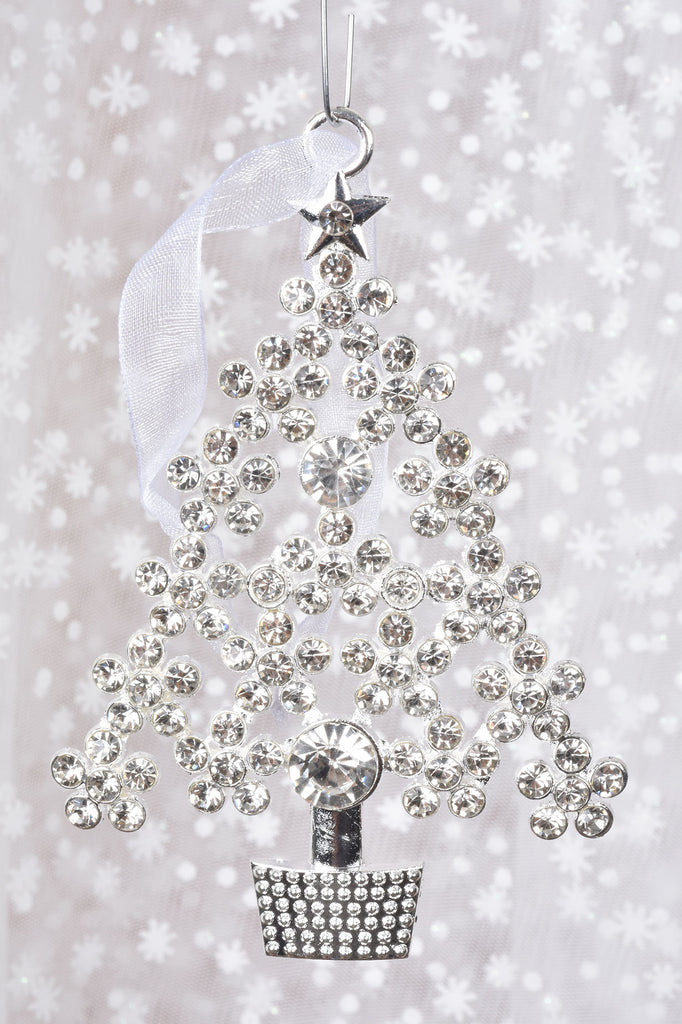 Crystal Christmas Ornaments.Sparkling Crystal Christmas Tree Ornaments