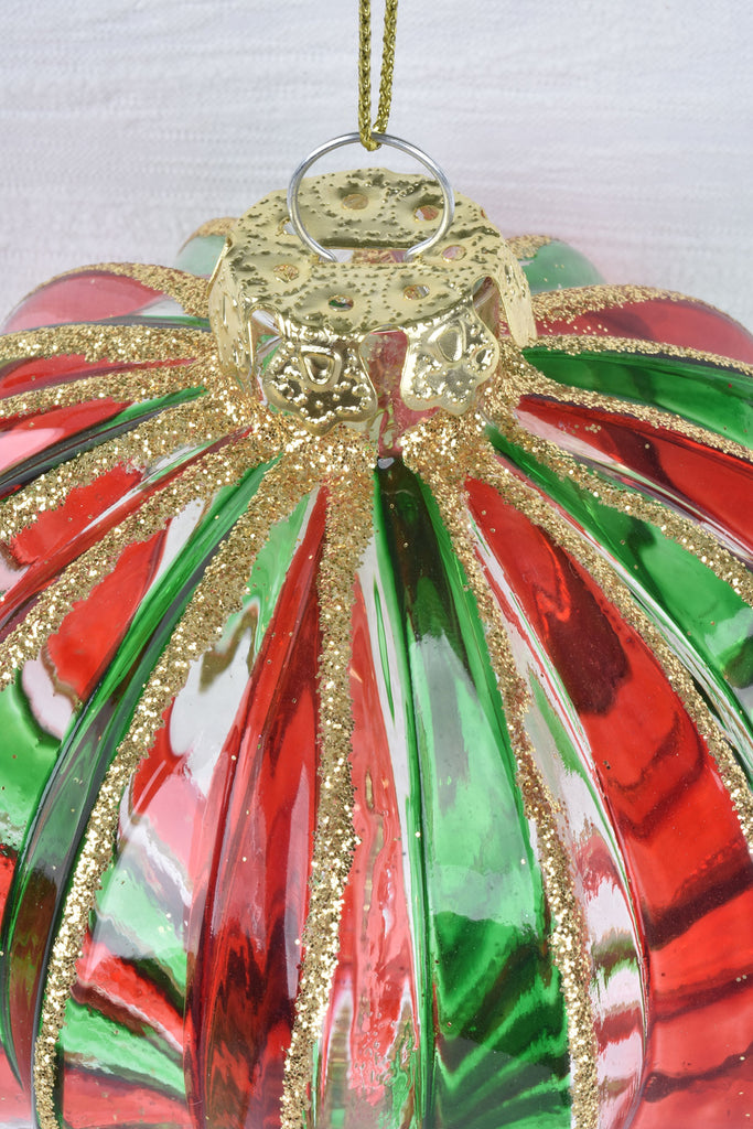Red and Green Glass Ornaments