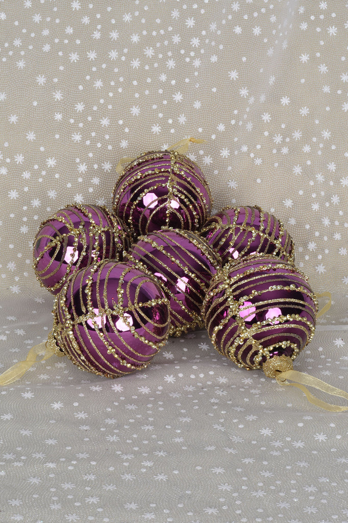 Sparkling Garlands Glass Ornaments