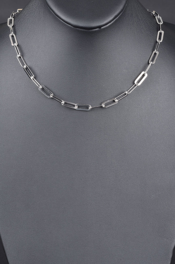 Italian Rectangular Status Link Necklace