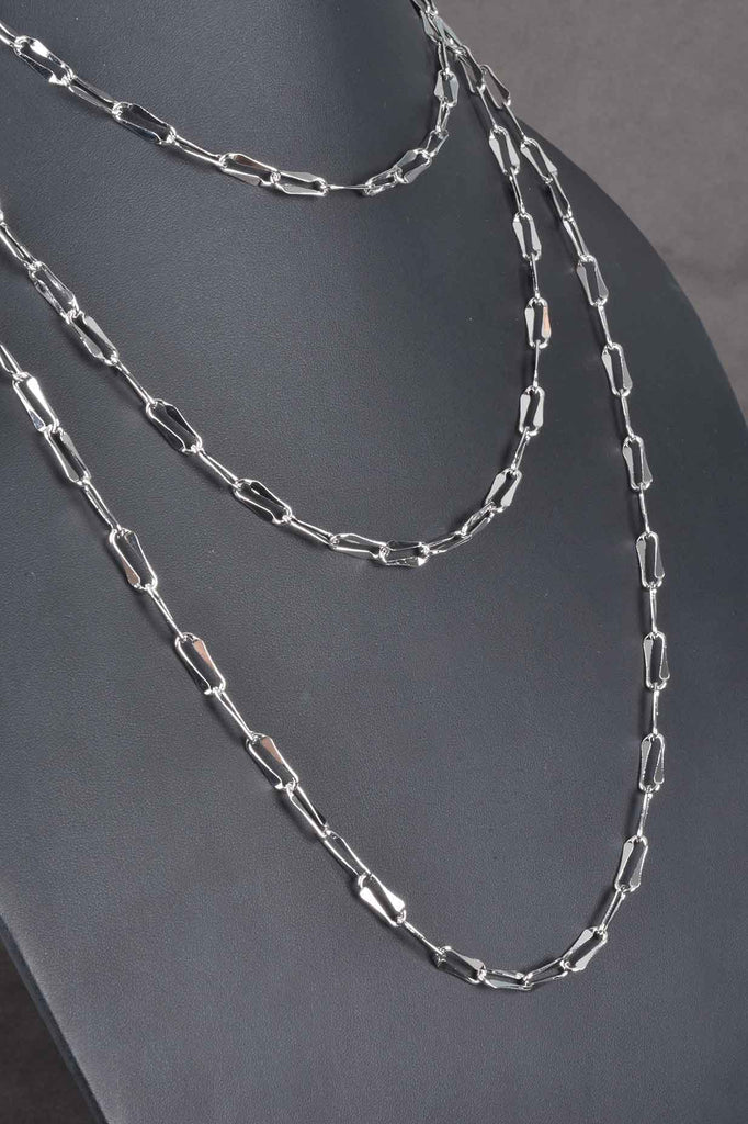 Italian Diamond Cut Status Oval Link Necklace