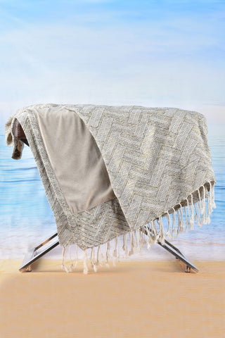 Status Scarf Grey Cover Up