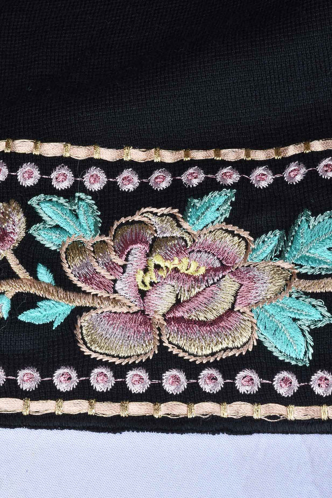 Embroidered Peacock Duster Cardigan