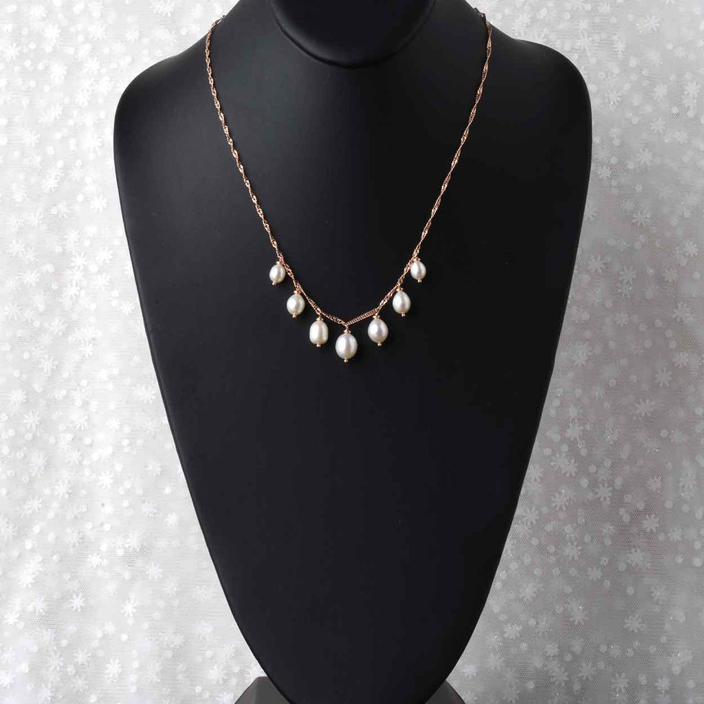 Italian Drops of Pearls Necklace