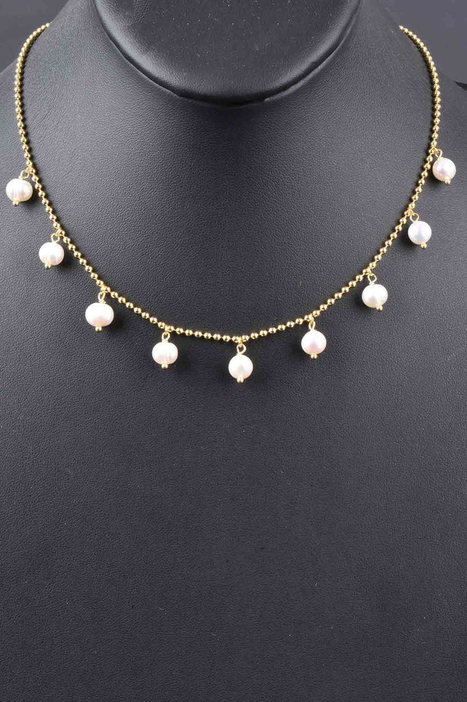 Italian Culture Pearl Drop Necklace