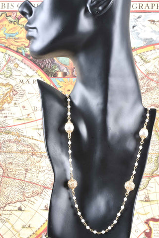 Italian Lariat Coin Necklace