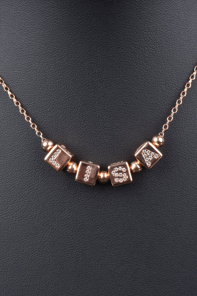 Italian Personalized Cube Necklace