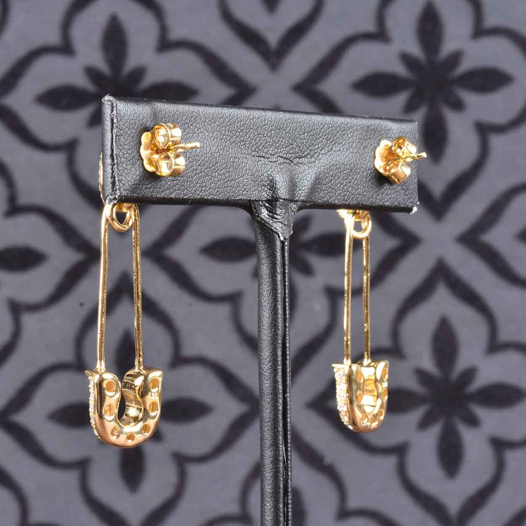 Italian Couture Safety Pin Earrings