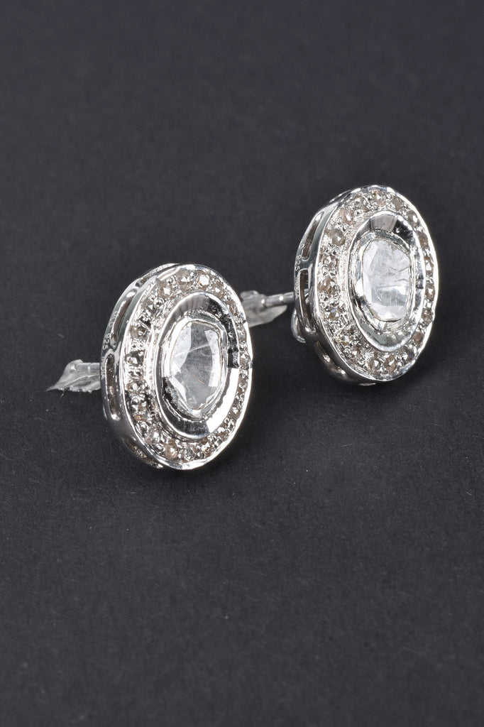 Maharaja Polki Diamond Stud Earrings