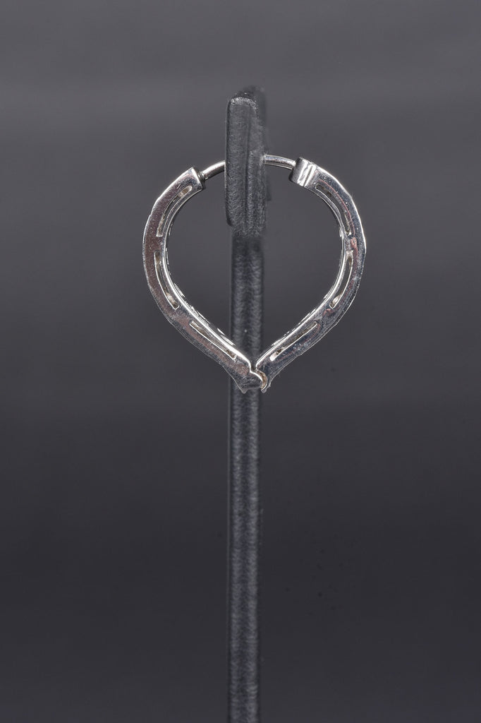 Maharaja Polki Heart Shape Hoop Earrings