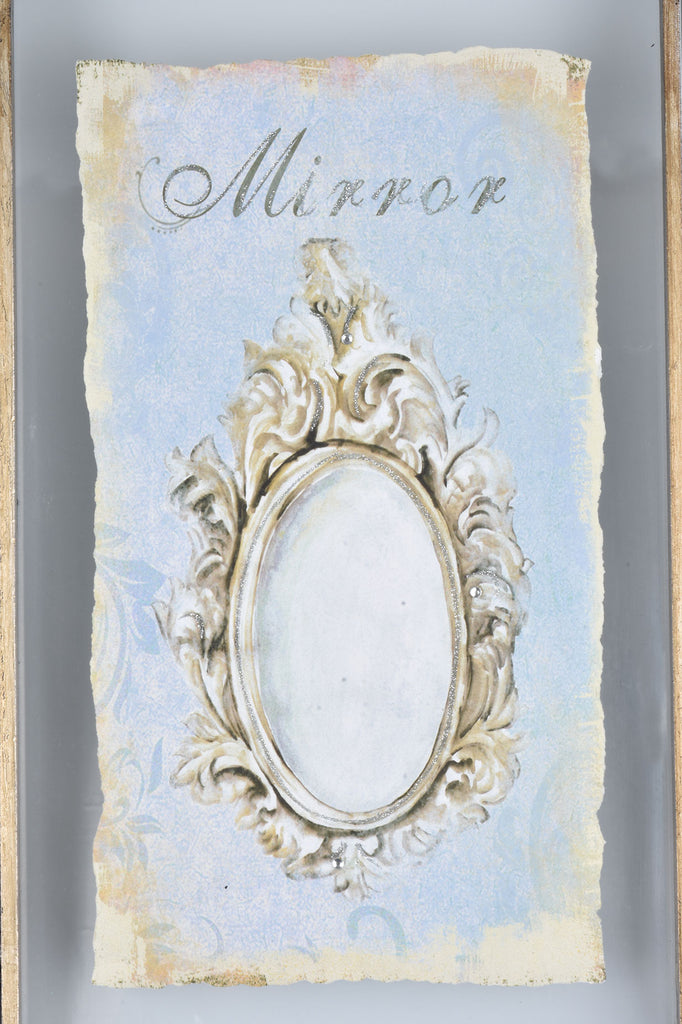 Vintage Inspired Decor Prints with Mirrored Frames
