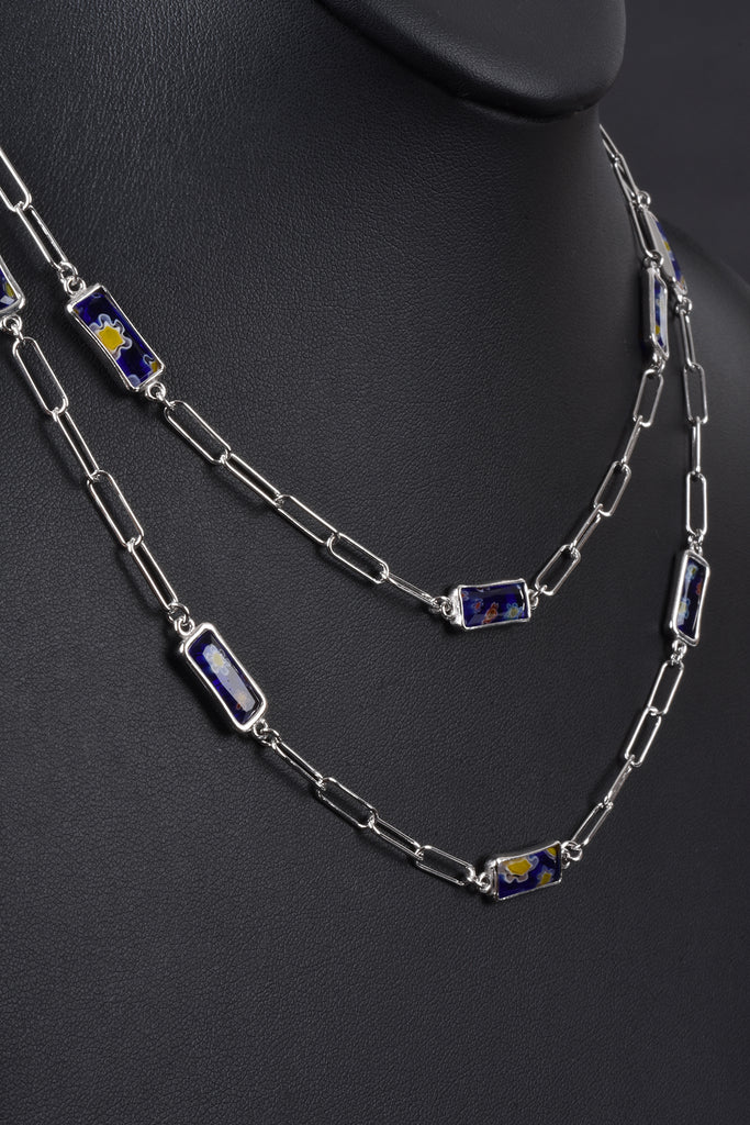 Handcrafted Murano Glass Station Necklace