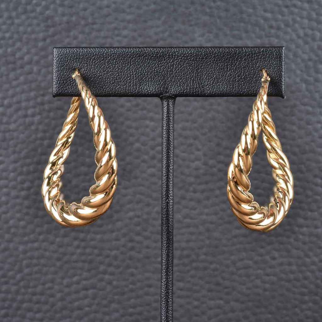 Italian Status Twist Hoop Earrings