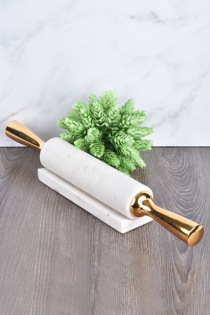 White Marble Rolling Pin