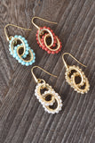 Florentine Beaded Rolo Link Earrings