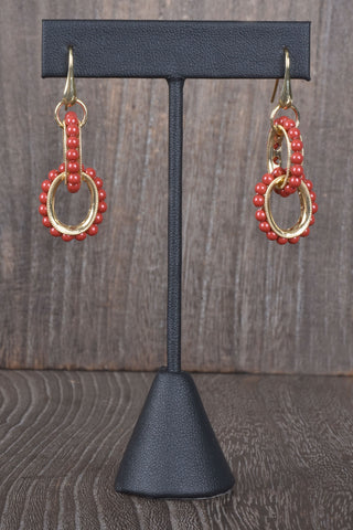 Italian Double Swirl Hoop Earrings