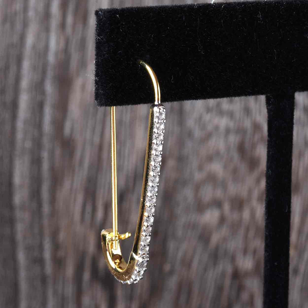 Safety Pin Hoop Earrings