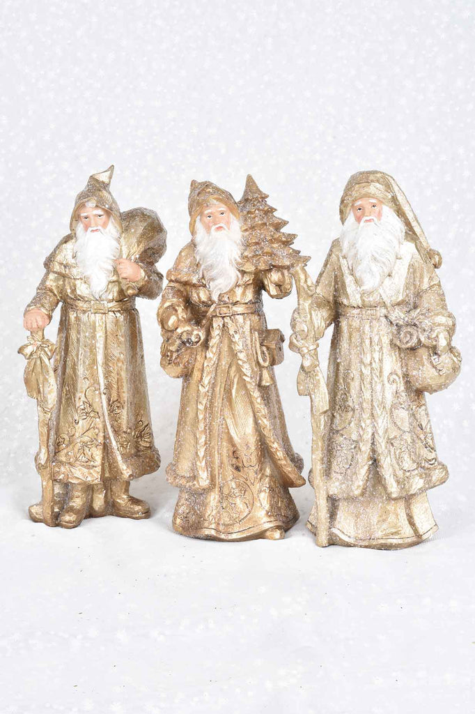 Set of 3 Father Christmas Figures