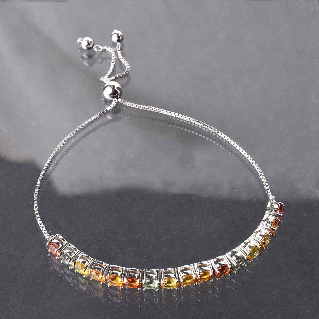 Multi-Color Sapphire Tennis Friendship Bracelet