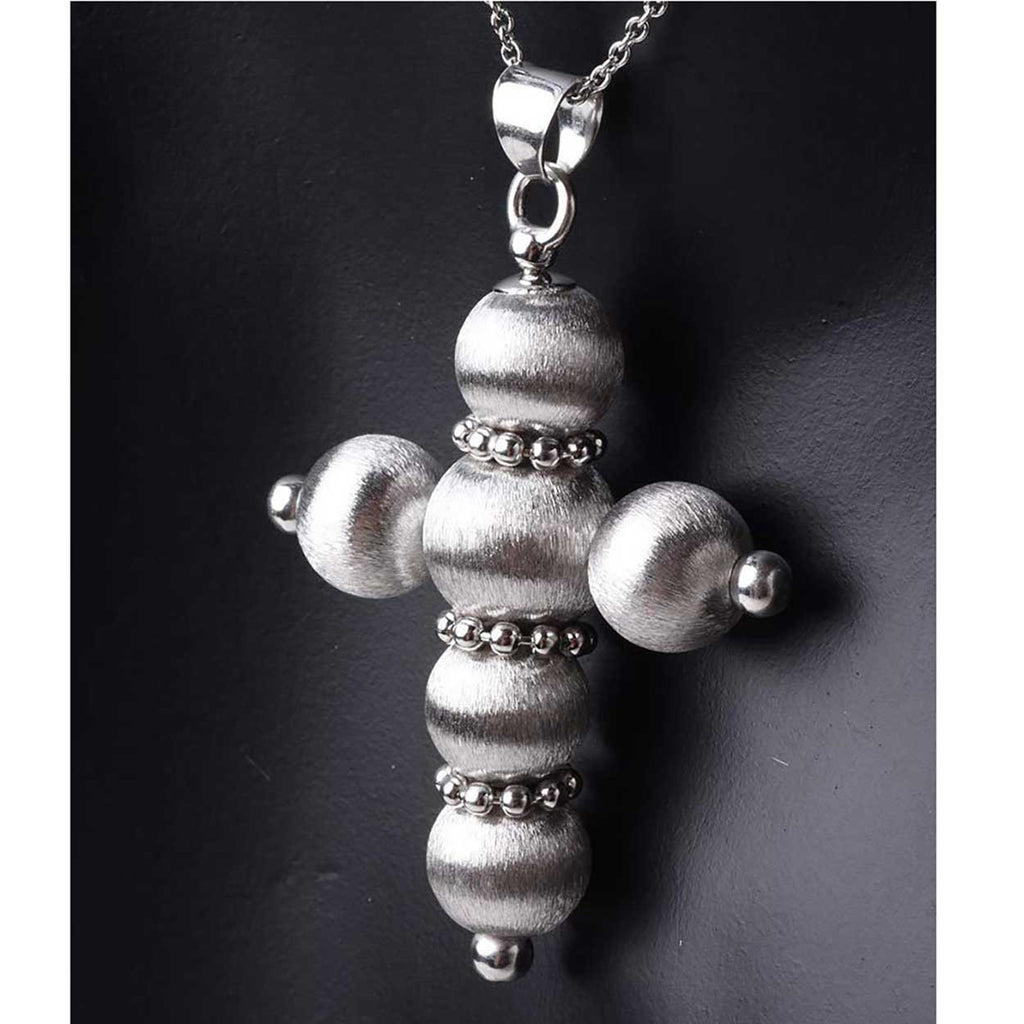 The Satin Finish Handmade Italian Bead Cross
