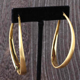 Organic Electroform Oval Hoop Earrings