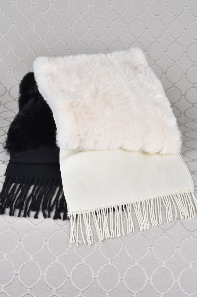 Faux Fur Scarf with Neck Warmer