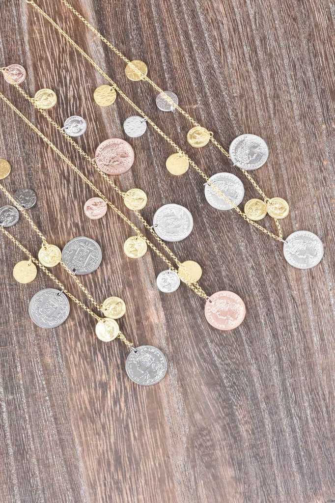Italian Dangling Coin Necklace
