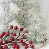Set of 3 Frosted Pine Trees