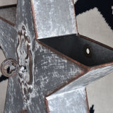 Set of 2 Galvanized Star Wall Pockets