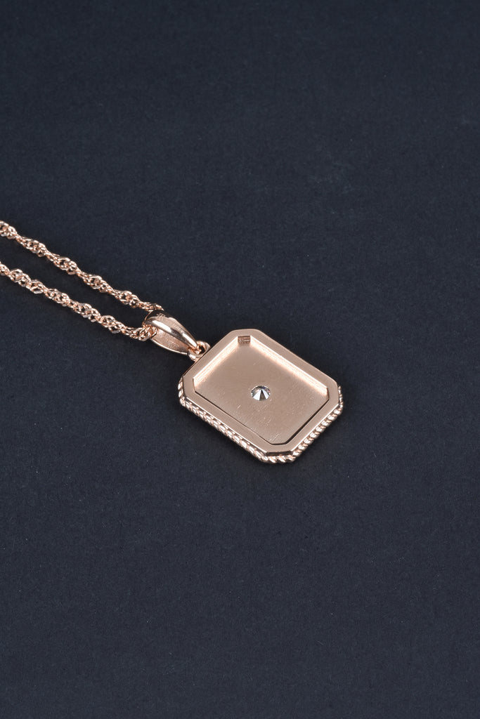 Italian Starburst Rope Border Tag Layering Necklace