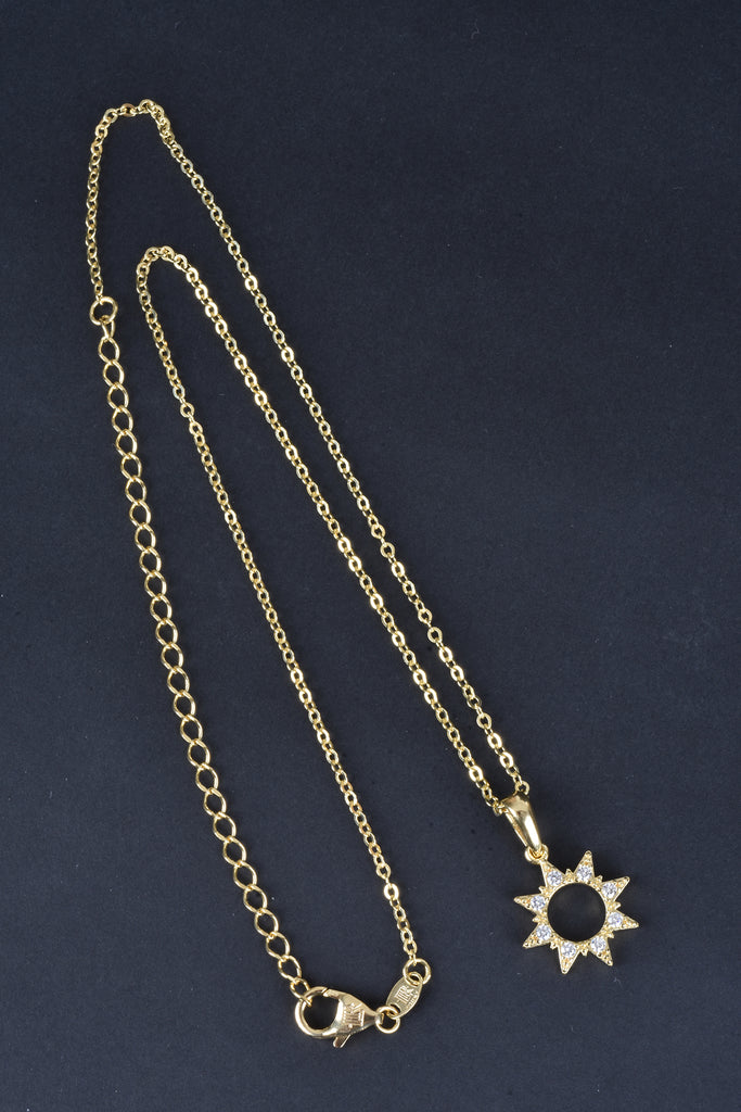 Italian Pave Star Layering Necklace