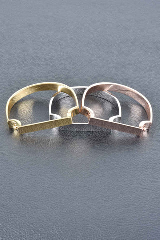 Diamond Cut Hammered Wave Hoop Earrings