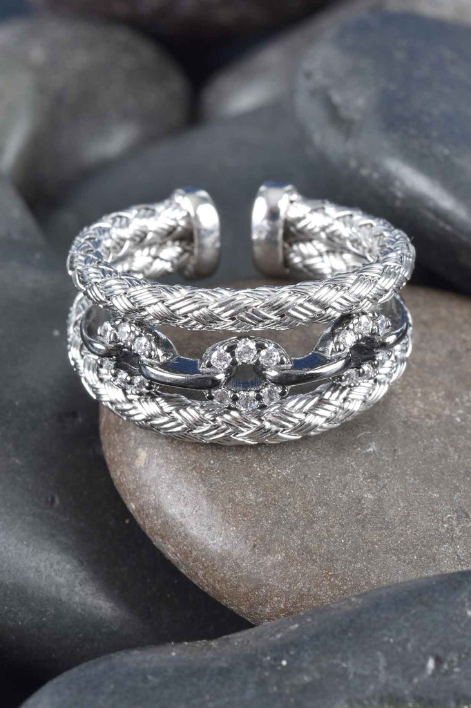 Two-Tone Woven Status Ring