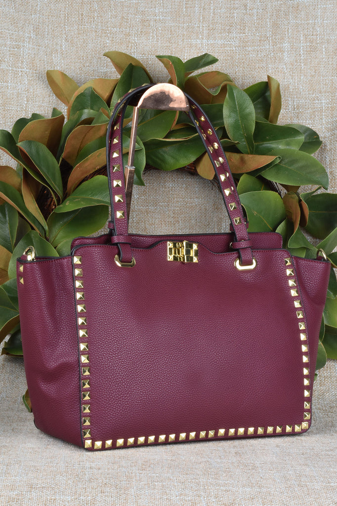 Studded Tote