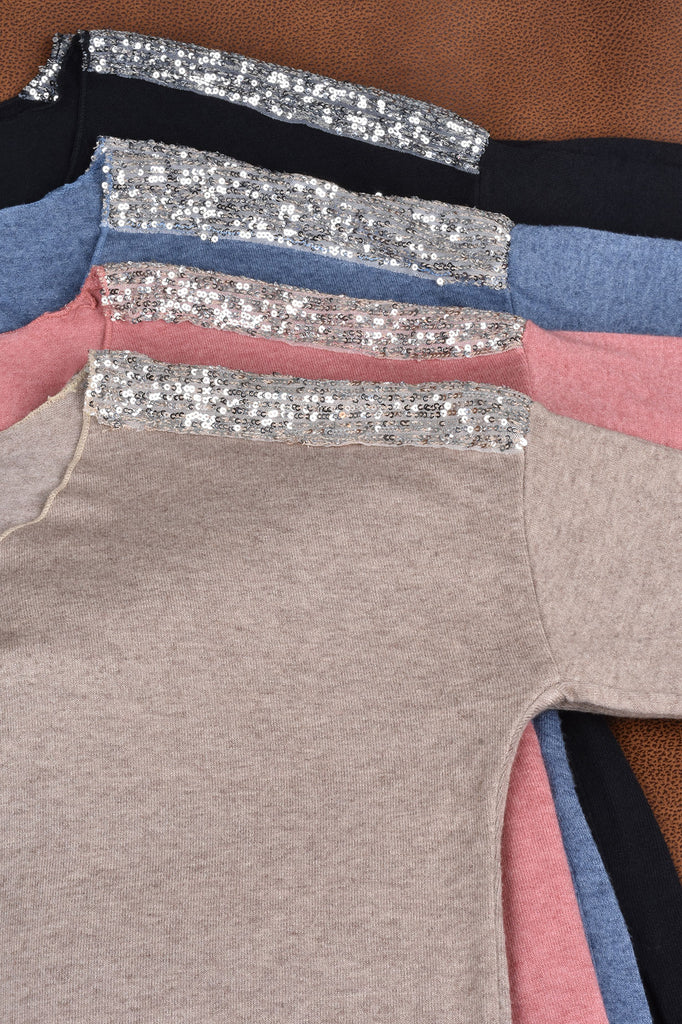 Sparkling Shoulder Sweater