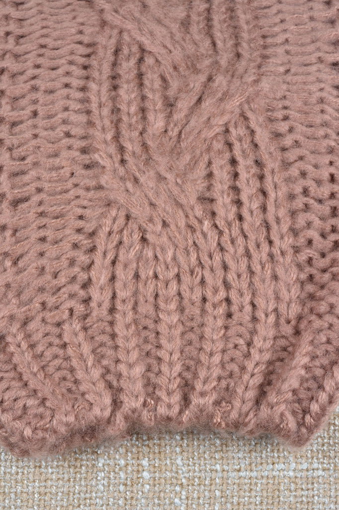 Soft and Pretty Cable Knit Sweater