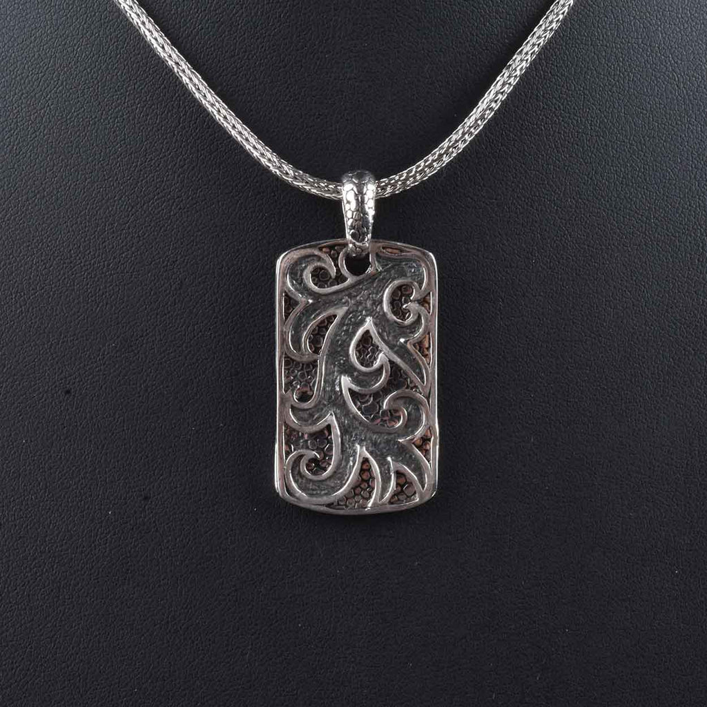 Handmade Rectangular Decorative Tag Pendant