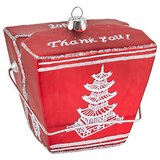 Take Out Box Glass Ornament