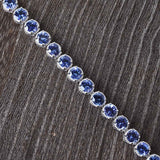 Bold Tanzanite Exotic Gemstone Bracelet