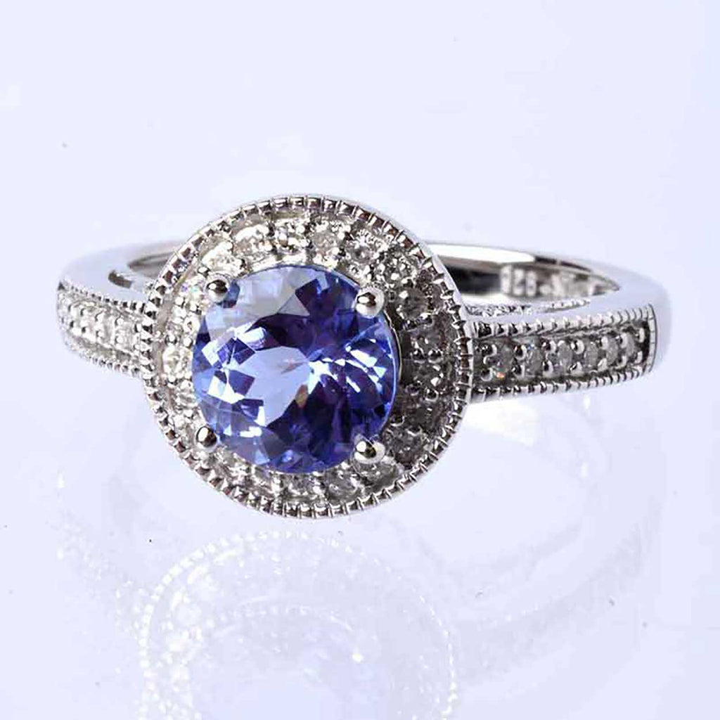 The Exotic Tanzanite And Diamond Ring