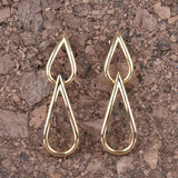 Italian Double Teardrop Earrings