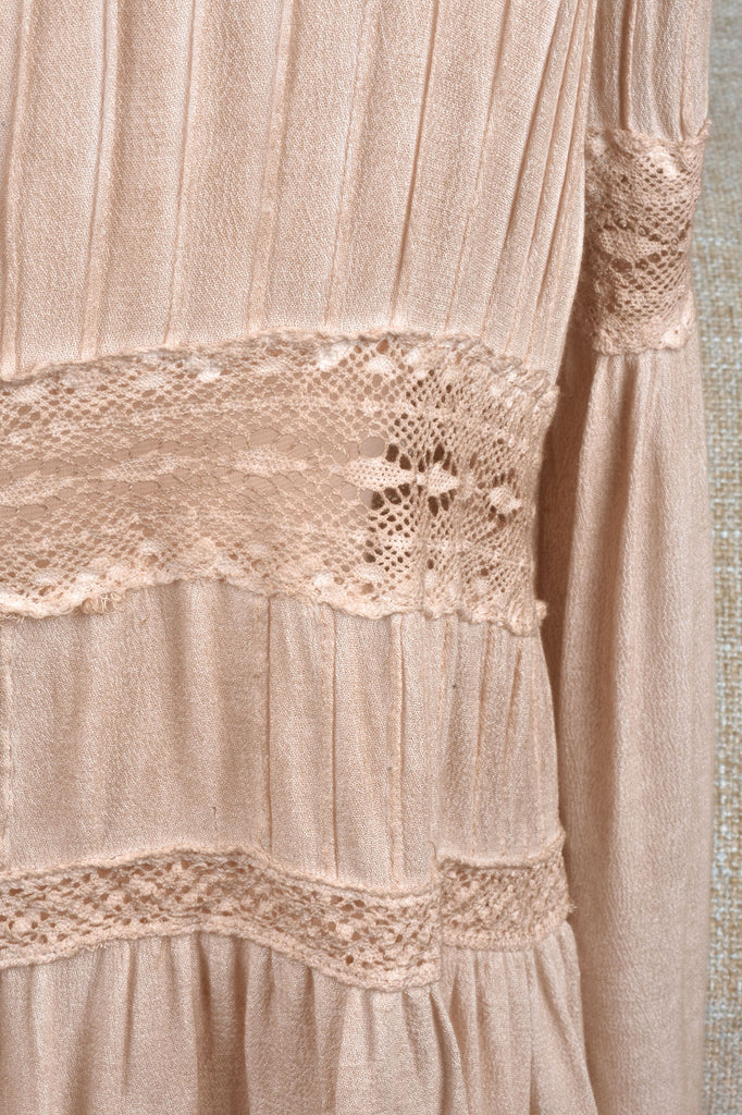 Hazelnut Top with Lace Details