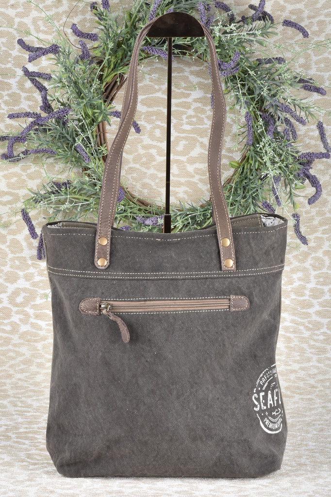 Chateau Petit Village Canvas and Leather Tote