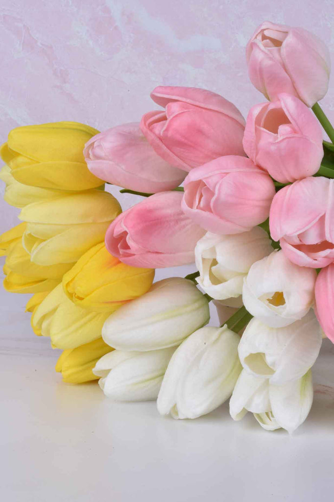 "Colors of Spring 15"" Real Touch Tulip Bundles"